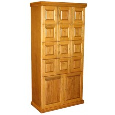 "CIGAR LOCKERS - MADE ENTIRELY WITH REAL SPANISH CEDAR - 12 LOCKERS + STORAGE - 11.75"" DEEP  - ""FLAT"" PANEL DOORS"
