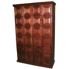 CIGAR LOCKERS - MADE ENTIRELY WITH REAL SPANISH CEDAR - 24 LOCKERS (Raised Panel Doors)