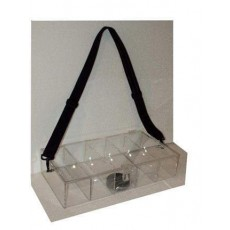 "HOSTESS CASINO Acrylic Plastic CIGAR TRAY + BELT 18.5W 4""H x 9.5""D"