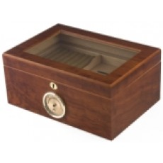 Humidor Home #12 Bally Militant Glass Top - 100 Cigars Bubinga Black  Model # IGO BALLY