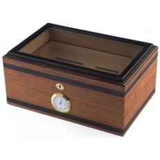 Humidor Home #4 Homestead's Bally V - 125 Cigars - GLASS TOP