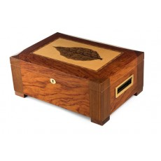 Humidor Home #2 BARBARAY COAST 150 Cigars - High Lacquer - Brass Side Handles Model # IGO - SANTA BARBARAY