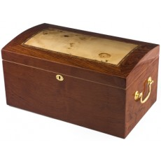 Humidor Home #6 NEW YORKER 150 Cigars - High Lacquer - Brass Side Handles Model # IGO - NEW YORKER