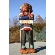 CHIEF SITTING BULL Indian - ARMS FOLDED - NO CIGARS Wooden Indian 70""