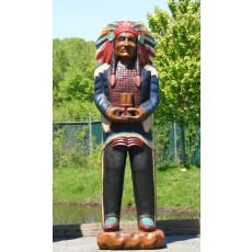 CHIEF SITTING BULL Indian with Cigars Wooden Indian 70""