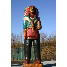 CHIEF SIX GUN Indian with Cigars Wooden Indian 70""