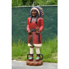MID ATLANTIC Traditional Tobacco Wooden Indian with Cigars 70""