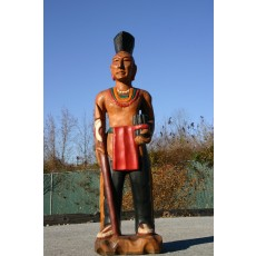 MOHICAN Indian with Cigars Wooden Cigar Indian 70""