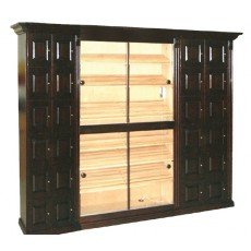 COMBO CIGAR HUMIDOR & LOCKERS = 12 + 12 LOCKERS + FANCY TRIM - MADE ENTIRELY WITH REAL SPANISH CEDAR