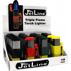 Jet Line NEW YORK - Triple Torch - TRAY of 16 - Style  # NEW YORK    Model #47-120-16