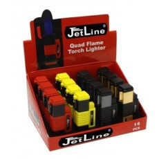Jet Line NEW YORK - QUAD Torch - TRAY of 16 - Style  #NEW YORK Model #47-140-16