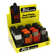 Jet Line NEW YORK - DUAL (Double) Torch - TRAY of 16 - Style  # NEW YORK    Model #47-130-16
