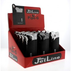 Jet Line Pipe-G - PIPE LIGHTER  - SOFT FLAME - DISPLAY of 12 LIGHTERS - Style  #Pipe-G 47-950