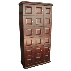 CIGAR LOCKERS - MADE ENTIRELY WITH REAL SPANISH CEDAR - 18 LOCKERS