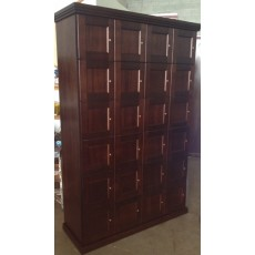 CIGAR LOCKERS - MADE ENTIRELY WITH REAL SPANISH CEDAR - 24 LOCKERS - FLAT PANEL DOORS
