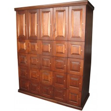 CIGAR LOCKERS - MADE ENTIRELY WITH REAL SPANISH CEDAR - 25 LOCKERS (5 DOUBLE + 20 REGULAR)  - STD DEPTH