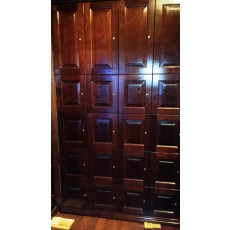 "CIGAR LOCKERS NEW TRIPLE DECKER - MADE ENTIRELY WITH REAL SPANISH CEDAR - 25 Compartments (5 LARGE + 15 MEDIUM + 5 SMALL.) - BRINGS BACK MORE RENT INSIDE 20"" DEEP INSIDE 20"" DEEP"
