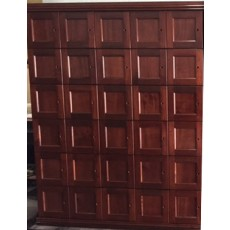 CIGAR LOCKERS - MADE ENTIRELY WITH REAL SPANISH CEDAR - 30 LOCKERS - FLAT PANEL DOORS - STD DEPTH