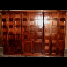"CIGAR LOCKERS ""EXAMPLE"" - MADE ENTIRELY WITH REAL SPANISH CEDAR - 12 LOCKERS + STORAGE  + !2 LOCKERS"