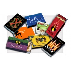Custom Color Box Matches IMPRINTED - 20 Matches per Box HIGH QUALITY - SHIPS in 15 DAYS  (CLICK HERE FOR PRICES - PLEASE NOTE PRICES ARE for ONE CASE OF 2500)