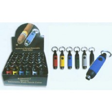 Rubberized Havana Retractable Punch Cutter - OUR BEST SELLING BULLET PUNCH CUTTER