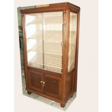 REGAL GLASS DELUXE Cigar Humidor Flat Panel Doors + FANCY TRIM 40W  x 59H x 19.75D - GLASS 3 SIDES