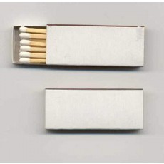 Blank Wooden Cigar Matches - WHITE Box of 10